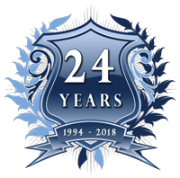 24 Year Anniversary Badge